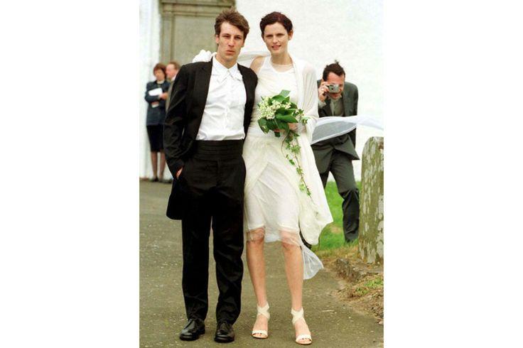 Stella Tennant wedding perfection: Stella Tennant, Wedding Dressses, Celebrity Photos, David Lasnet, Helmut Lang, Celebrity Wedding, Dresses, Bride, Tennant Married