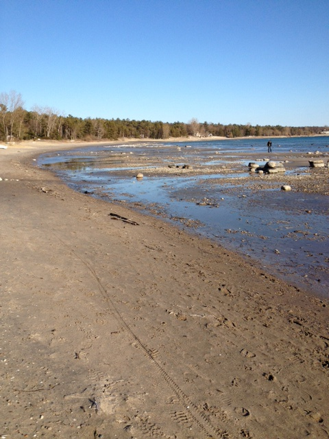 Low Water at Cawaja Beach, Tiny, Ontario
