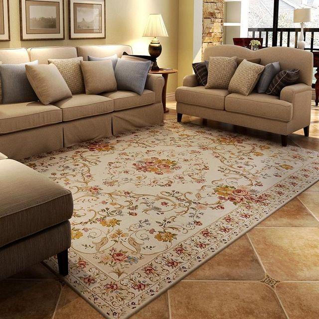 chenille jacquard tapis salon chambre table tapis europenne jardin antidrapant grand tapis et tapis pour la