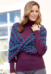 Caron International | Free Project | Lace Infinity Cowl