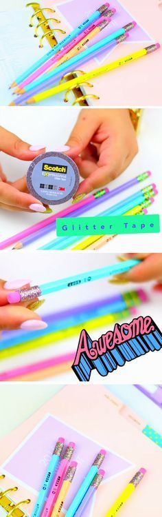 Glitter Pencils   DIY Tumblr Inspired School Supplies for Teens you need to try!  - Visit my Store @ https://www.spreesy.com/emmaperry