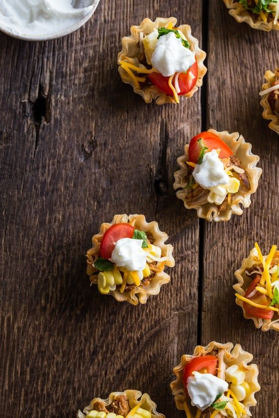 Pin for Later: Slow-cook these adorable chicken taco bites