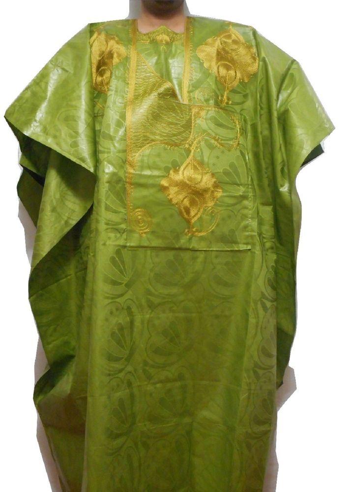 Grand Bou Bou African Men's Pant Suit  Ethnic 4 Piece Set Big&Tall Plus Size #Handmade #TradionalLongTopBouBouBrocadeSuit