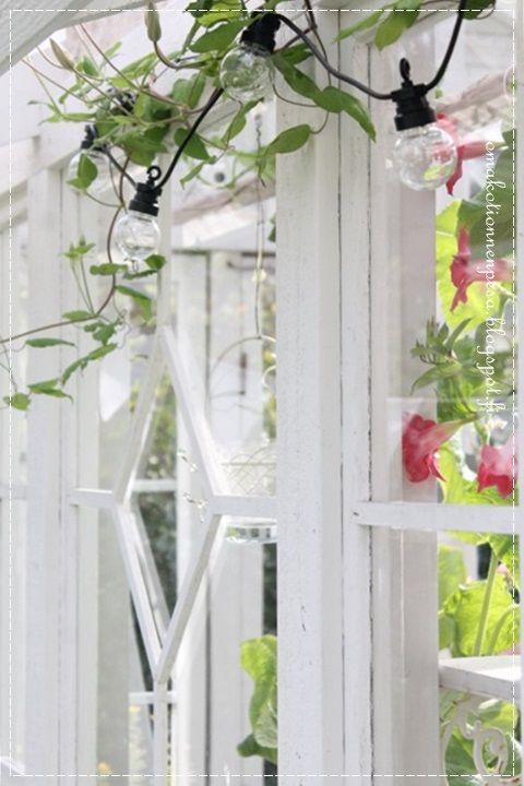 pallovalot, kesähuone, puutarha, kasvihuone, vanhat ikkunat, kärhö