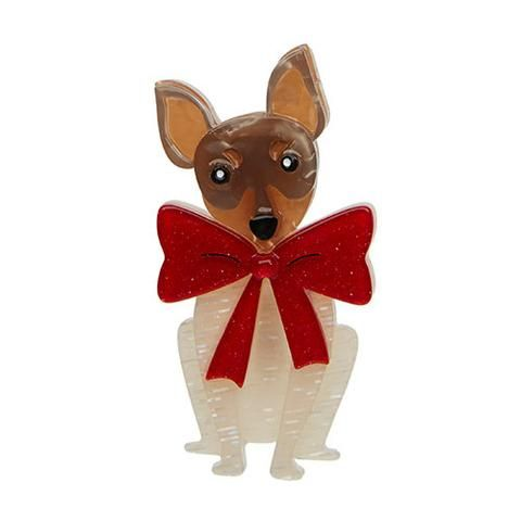 """Erstwilder Limited Edition Russell Bow Brooch. """"This foxy fella is not afraid of drawing attention. Surely you've noticed the size of the conversation bow he is sporting!"""""""