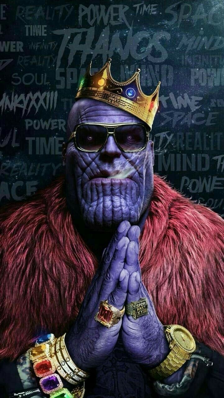 Thanos Is Gangsta Thanos Infinitywar Marvel Biggy  -8543