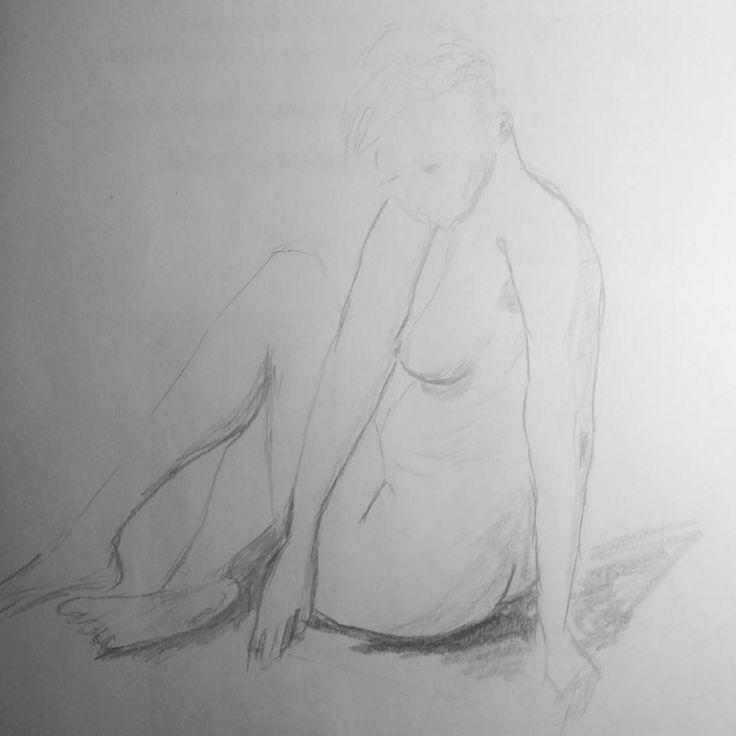 #art #sketch #skething #15min #nude #drawing #draw #обнаженка #наброски Модель Вероника