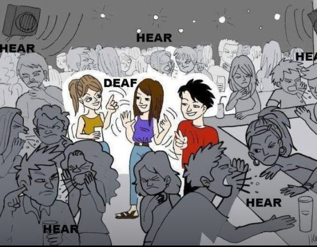 "sign language true language for the deaf essay Sign language (adasl) is a ""shared sign language,"" used by all deaf people   signing space heavily making use of pointing to real locations for person and  140  instead, deaf people will rather receive a summary in adasl also, even."