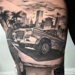 Lowrider Car Tattoo