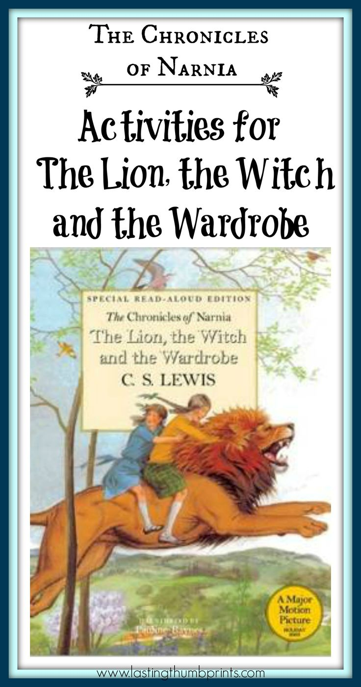 Chronicles of Narnia Activities for The Lion, the Witch, and the Wardrobe - Lots of great ideas to do while you read the book!