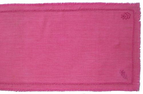 Gitika Goyal Home Khadi Chikanwork 70-Inch Runner Rice Flower Design, Pink by Gitika Goyal Home. $63.66. 11.5-Inch-by-70-Inch 100-Percent Cotton Khadi-Handmade-Fabric Chikanwork-Hand-Embroidery. Delicate Machine Wash Please Expect Some Unevenness in Fabric and Embroidery as it is Completely Handmade Made in India. 70-Inch Runner. Gitika Goyal Home presents Runners from a Table Linen collection in hand-spun and hand-woven Khadi fabric with Chikan hand-embroidery in a range of ...