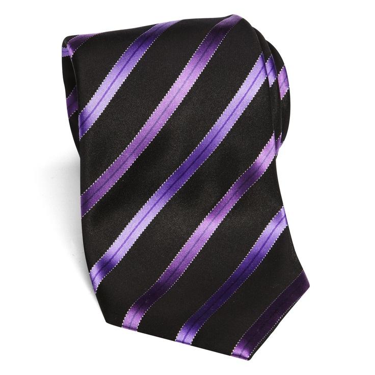 purple and black tie