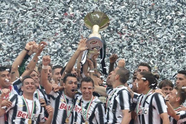 Juventus celebration the Champions Lega Calcio 2012