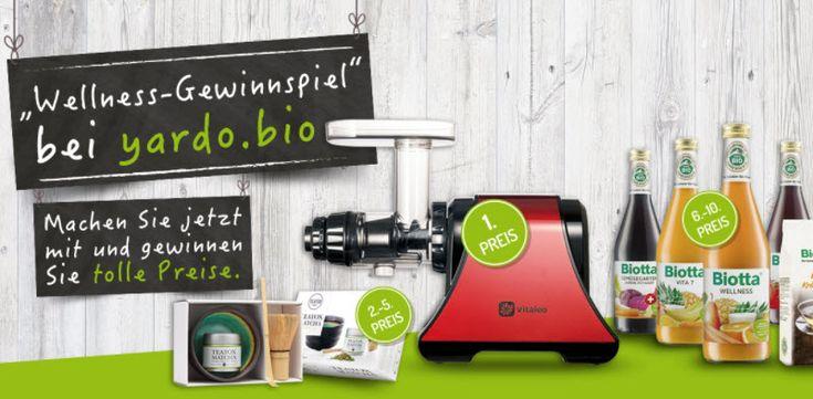 Gewinne mit @yardobio einen Entsafter im Wert von über CHF 450.-, 4x1 Tee-Set und diverse Wellness Saftwochen.  Jetzt hier gratis mitmachen: https://www.alle-schweizer-wettbewerbe.ch/gewinne-einen-entsafter/