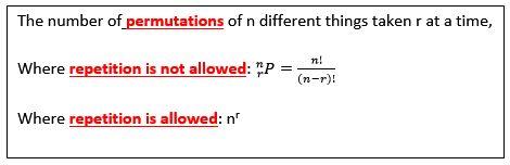 Studywalk Mathenatical Formulae : Permutation and Combination www.studywalk.com
