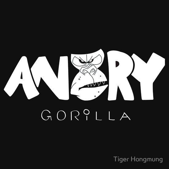 Angry Gorilla White