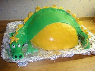 Bolibompa dragon cake made by Bagerskan.se