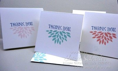 Sale-a-bration Celebration … Sweet little 3x3 Petal Cards - so quick and easy and fit perfectly into my little box. Pop by my blog to do the blog hop and see what all the aussies are making! #stampinup #saleabration #petalparade