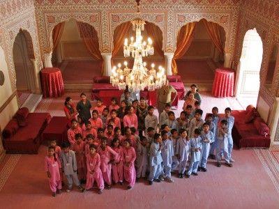 In the Durbar Hall, Samode Palace, Rajasthan, India
