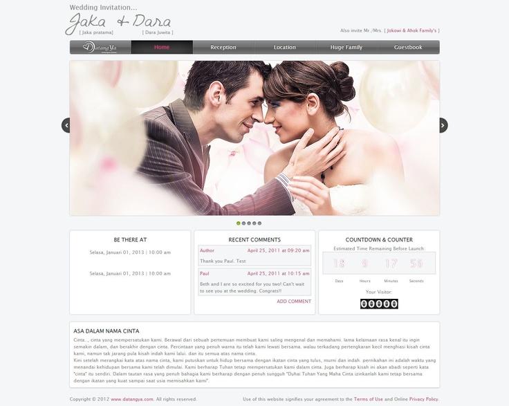 Template undangan pernikahan online tema Apple2