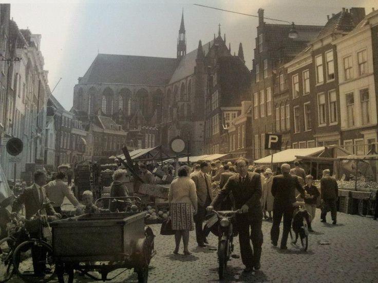 Markt op de Hooglandse Kerkgracht, 1963