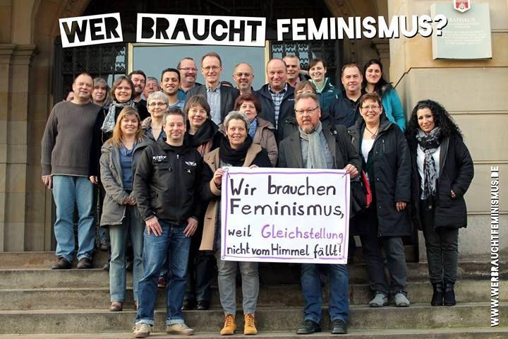 """""""Wir brauchen #Feminismus, weil Gleichstellung nicht vom Himmel fällt!"""" (Gesamtpersonalrat der Stadt Hannover)"""