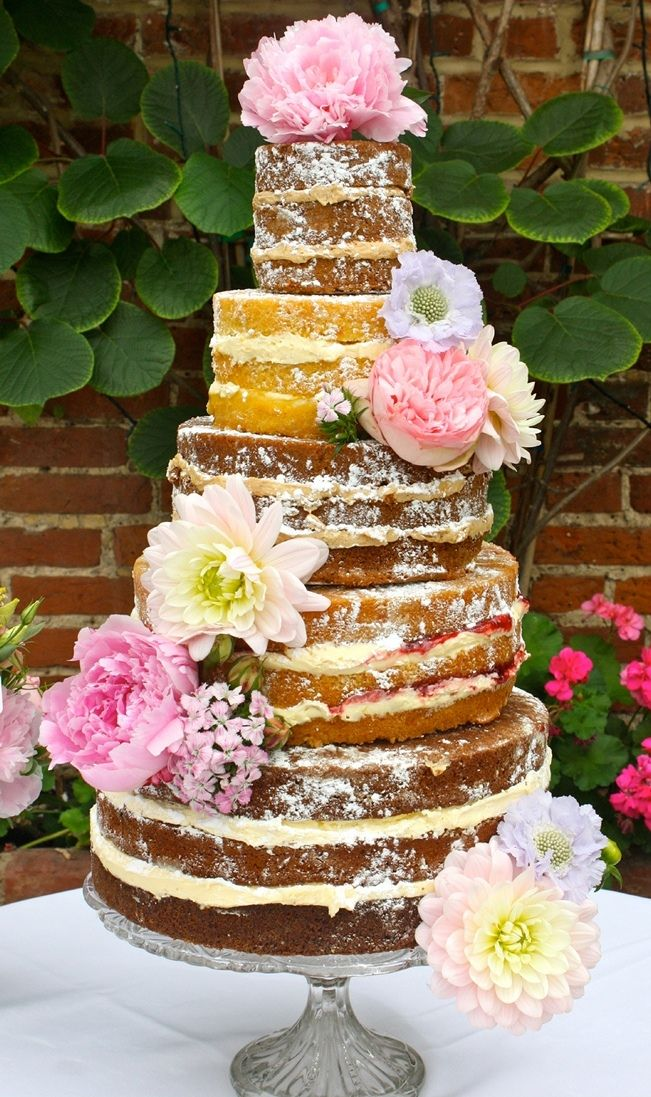 yummy layered wedding cake sans icing wedding cakes cake and wedding. Black Bedroom Furniture Sets. Home Design Ideas