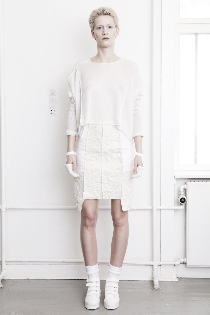 BEATE GODAGER // AW12WHITE #beategodager #womanswear #aw12white #scandinavian #fashion #conceptual #lookbook