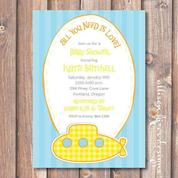 20 best images about Nanas Baby Shower – Beatles Party Invitations