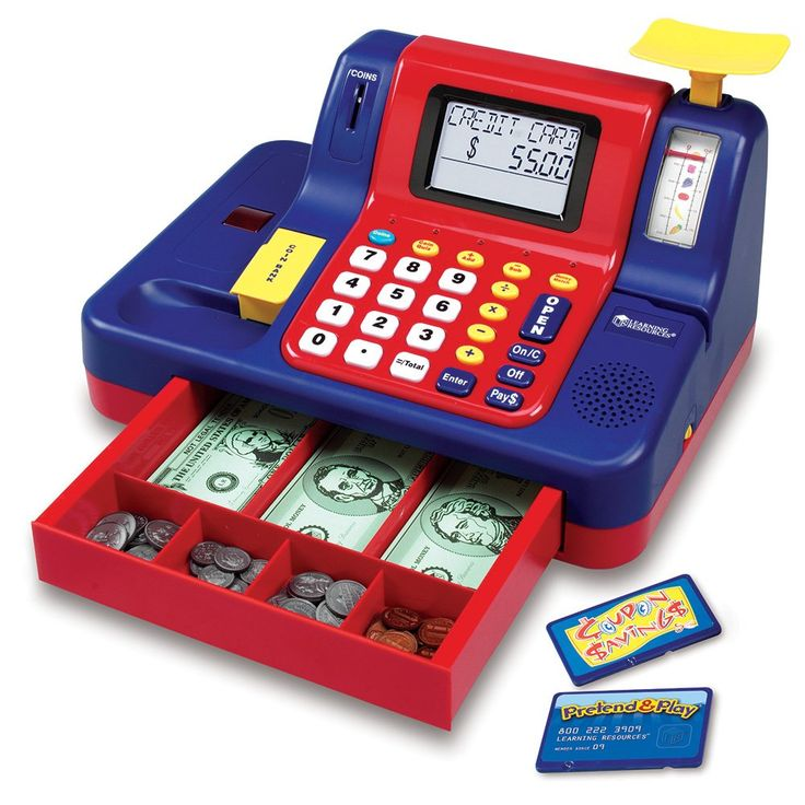 Amazon.com: Learning Resources Teaching Cash Register: Toys & Games