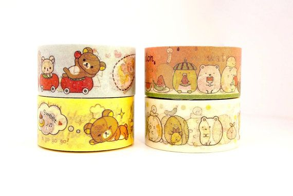 RILAKKUMA 10m high quality WASHI tape CARTOON by MyChildhoodDream