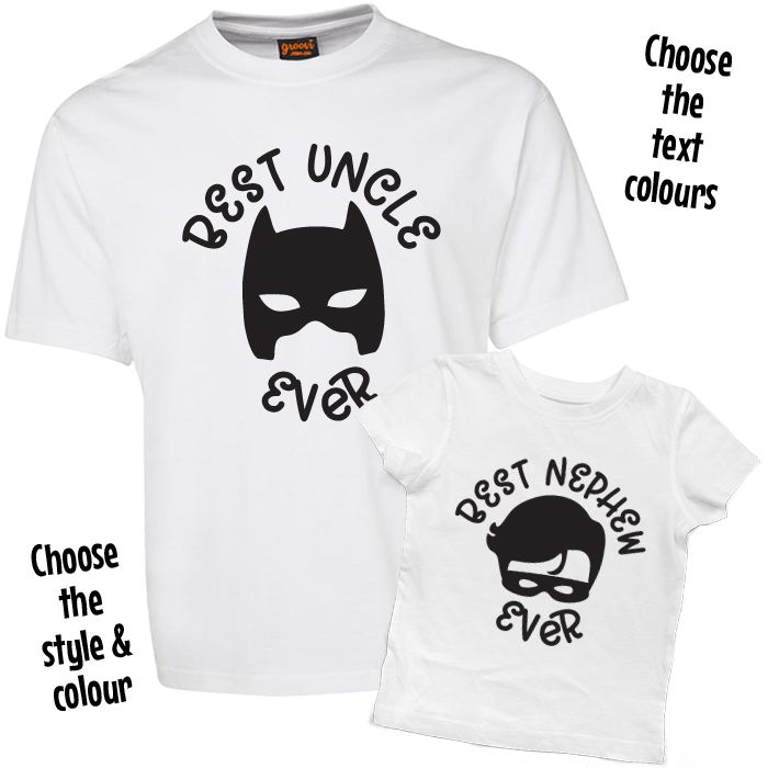 Best Uncle Ever Best Niece or Nephew Ever T Shirt Set