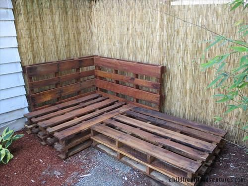 Sectional couch made from pallets