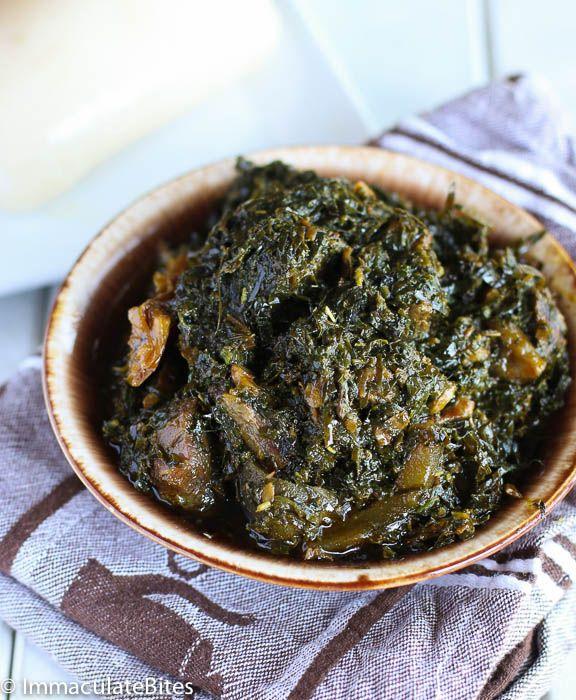 Eru Soup(Spinach/Okazi leaves)