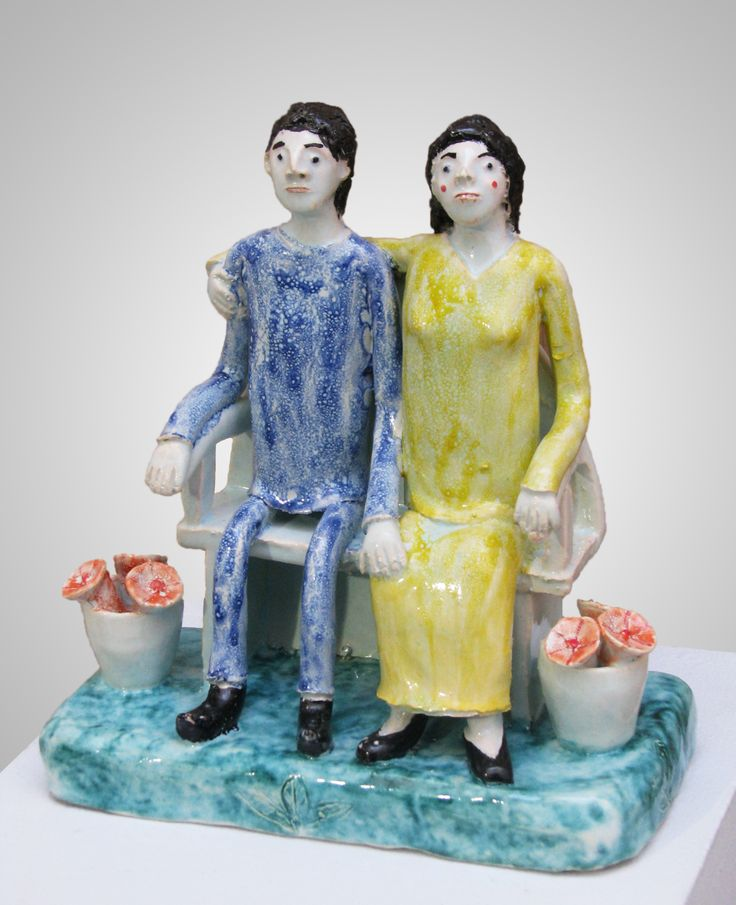 An original ceramic work by Nico Masemolo entitled: Couple With Flowers. #ceramic #NicoMasemolo #clay #FineArt #CeramicArt #CeramicArtWork #Couple #Love #Romance #LoveArt #ArtLove #Flowers #CeramicFlowers #SouthAfricanArt #SouthAfricanArtist For more please visit www.finearts.co.za