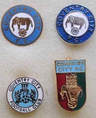 редкие, очень старые, эмалевые знаки английский профессиональных футбольных клубов:ФК Ковентри Сити