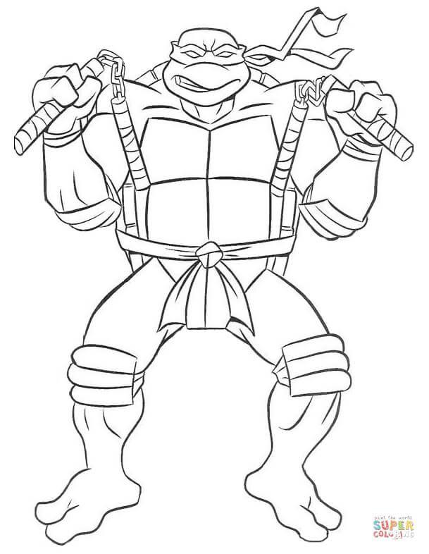 Michelangelo Ninja Turtle Super Coloring Turtle Coloring Pages Ninja Turtle Coloring Pages Ninja Turtles