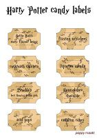 Harry Potter inspired candy labels printable.