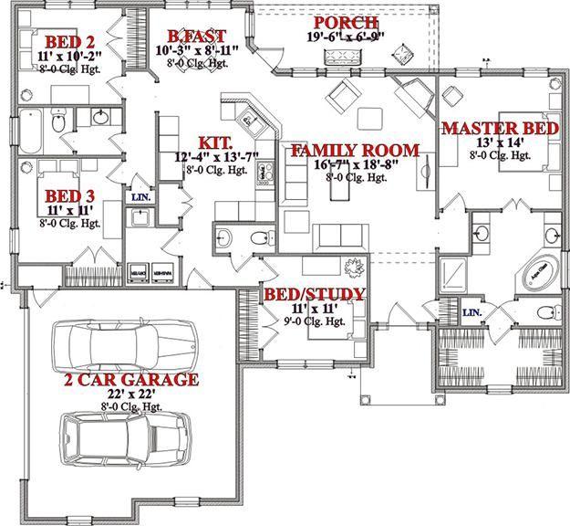Great Floor Plan   Ranch 1846 Sq Feet