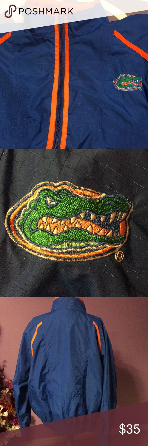 Florida Gators jacket wins/rain unisex XXL Preowned in great condition. See pictures for details to front zipper pocket. Size XXL Logo7 Jackets & Coats