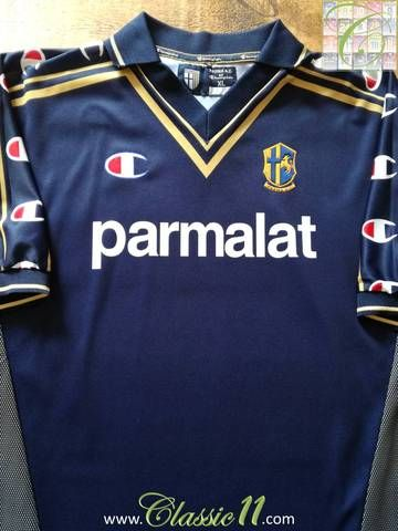 c1e442a9a Official Champion Parma 3rd kit football shirt from the 2001 02 season.