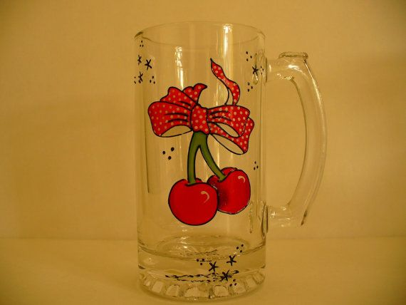 Hand painted beer mug  by Rocky B Creations