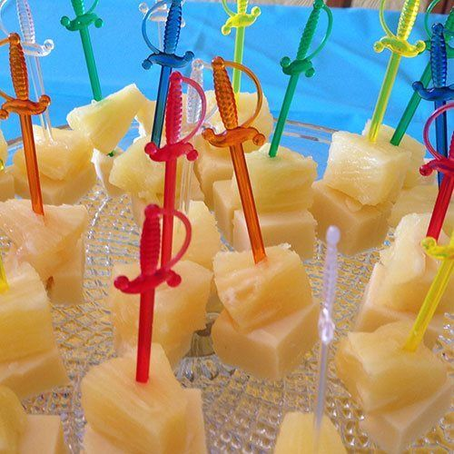 Cheese and Pineapple Swords