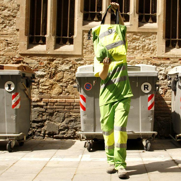 Bolso reciclado a partir de uniforme de basurero (o jardinero!)