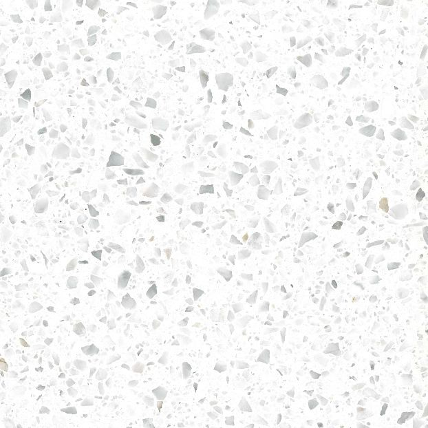 Pure White Polished Terrazzo Flooring Material Tiles