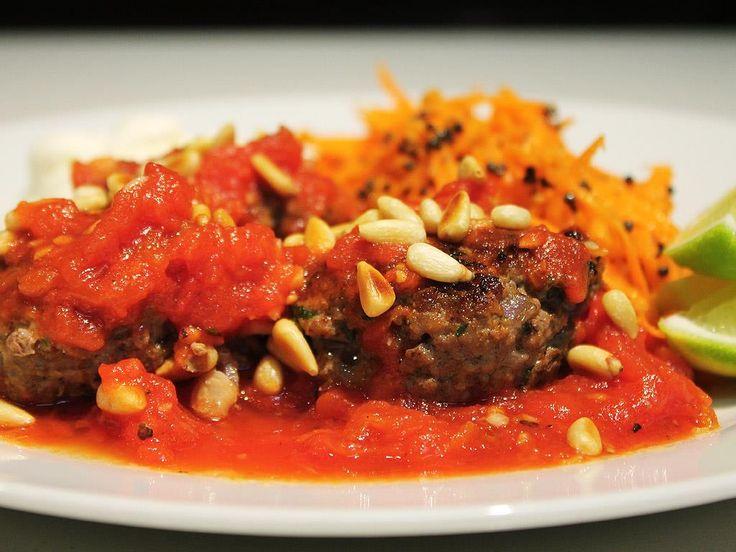 Moroccan Meatballs & Carrot Salad