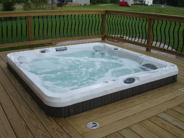 Hot Tub Deck Ideas Signature Decks Photogallery Affordable Custom Deck Design Hot Tub