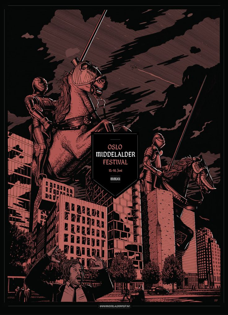 Middelalderfestival Poster. Bredenbekk