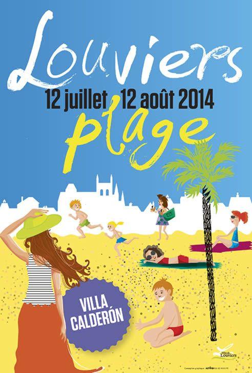 L'affiche officielle de Louviers Plage 2014