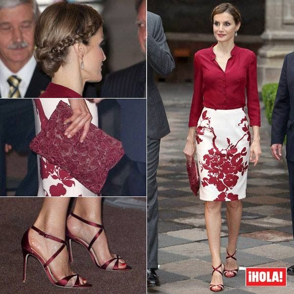 Spain's Queen Letizia during her visit to Mexico City, June 30, 2015.